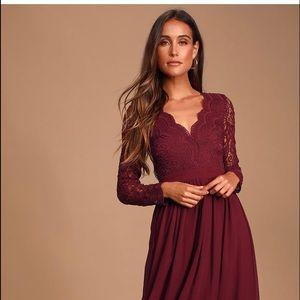 Crochet maxi dress ..